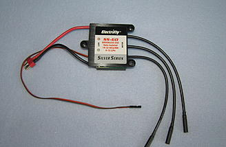 Electrifly Silver Series 60 Amp speed controller was used.