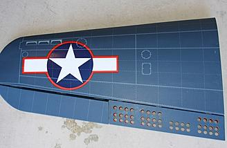 Left top of outer wing panel.