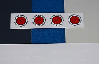 Some of the decals supplied.