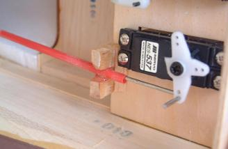 By relocating the elevator and rudder servos, no additional weight was needed to balance this plane!