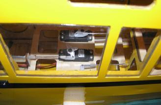 Fuselage servos were already installed.