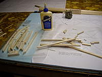 """Name: IMGP0973_resize.jpg Views: 152 Size: 51.3 KB Description: First step is laminating CNC cut 1/4"""" thick pieces to make 1/2"""" thick fuselage parts.  I used wood glue instead of CA."""