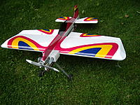 Name: IMGP0789_resize.jpg Views: 129 Size: 138.5 KB Description: The Butterfly, my first 3D nitro plane and a joy to fly, may it RIP.