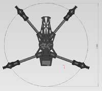 Name: DiaLFonZo-Copter - FPV SpyderQuad - Dimensions.png