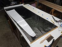 Name: 20200126_162334.jpg Views: 20 Size: 3.59 MB Description: Laying out parts on the 3 layer 59 g/m2 carboweave