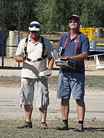 Name: Tortosa_25.jpg Views: 363 Size: 157.7 KB Description: That's John Greefield (GBR) working on the sticks and Evert Böhrer (BEL) navigating. They are using the RC T-3000 system from RC-electronics. The system operates on 433MHz and is thereby uncoupled from the transmitter. No Bluetooth connection needed.