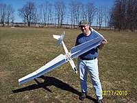 Name: 103_1462.jpg Views: 91 Size: 134.5 KB Description: The Aftermath...  It was a good flying scratch-built glider... To much damage to fly again.