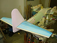 Name: Dornier do 26.jpg Views: 278 Size: 172.3 KB Description: Horizontal tail It was cut with CNC cutting machine for wing from polystyrene.