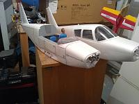 Two of the fuselage's stripped for painting