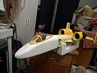 Name: rebuild 019.jpg Views: 239 Size: 62.2 KB Description: after major crash ,I replaced the nose  here its polyglassed ready for paint  lines removed