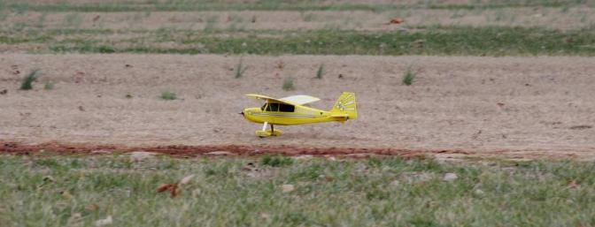 Landing sequence...main gear tochdown.