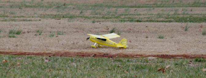Landing sequence...tail skid touchdown.
