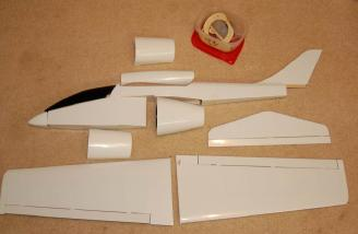 All the kit components laid out to get an idea of what this bird will look like.