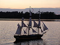 Name: 03 sunset.jpg Views: 71 Size: 271.6 KB Description: Course sails struck and ready for the night