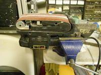 Name: P2022909.jpg Views: 450 Size: 105.7 KB Description: My improvised belt sander.