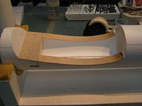 Name: PB290039.jpg Views: 147 Size: 838.4 KB Description: The finished wing saddle. The front and rear faces of the saddle are not lined with wood just yet. That will be done when we get to mounting the wing, and might have to sand a little to get a snug fit.