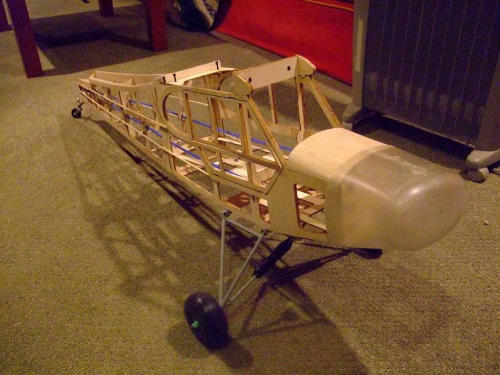 "Name: supercub1.jpg Views: 502 Size: 102.1 KB Description: The fuselage ""in the bones."""