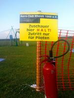 Name: Halt.jpg Views: 253 Size: 114.2 KB Description: Viewer STOP here! Entrance only for pilots. Safety is quite well organized at German events. Regulations rule.