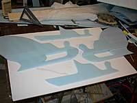 Name: santa 001.jpg Views: 621 Size: 52.6 KB Description: Sleigh parts cut and one side glued together.