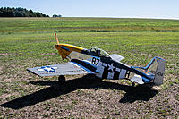 Name: P-51 Mustang GS Top flite on ground.jpg