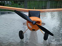 Name: 2012-09-25 18.28.24.jpg Views: 123 Size: 154.4 KB Description: Prop rubs against nose when you first throttle up then stopps as speed.
