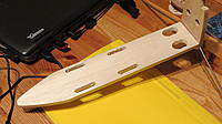 Name: IMG_3052.jpg Views: 256 Size: 140.2 KB Description: New balsa base, slots are for the battery straps.