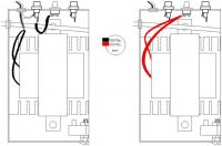 Name: Copy of TRANWIRE.jpg Views: 778 Size: 45.0 KB Description: Drawing on the left shows how the Black wires are connected. Drawing on the right is the Red wires. NOTE: The RED wires go to the bottom lugs of the switch. The Black to the top lugs of the switch.