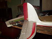 Name: 100_1069.jpg Views: 211 Size: 145.9 KB Description: Basic balsa rudder enlargement for better slow speed control.