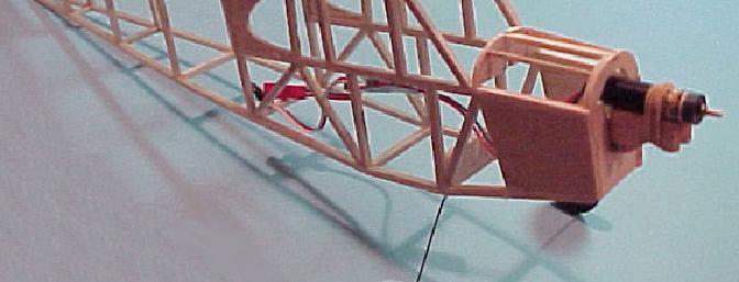 Completed fuselage balsa framework.