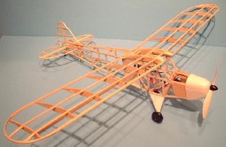 The completed balsa framework.