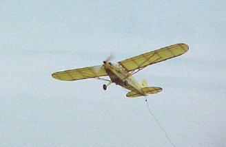 Flying overhead.