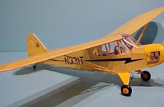 The Sig-Hacker Cub ready to fly.