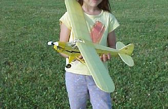 Lisa (Michael's daughter) holding the model.