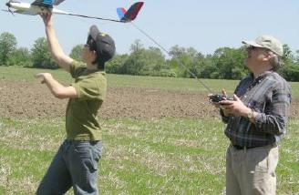 Adam launches for Gordon as he is tested for his Wings certificate.