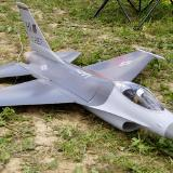 Adam Rogozinsky of Thornhill, Ontario flew his very fast JePe F-16 ducted fan jet.