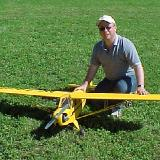 My 1/5 scale Sig Piper Cub after its first flight at TEMAC.