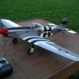 A new House of Balsa P51-D Mustang after its maiden flight. Superbly built but flown by an instructor.