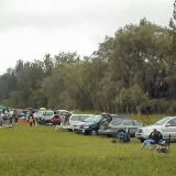 Cars beginning to line up at the first TEMAC funfly on Sept. 5, 2004.