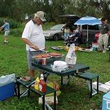 Claude volunteered to be our Barbeque chef; he did a great job cooking for all of us.