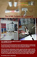 Name: ACME portable wind tunnel.jpg Views: 299 Size: 169.3 KB Description: The ACME Portable Wind Tunnel - Build, mark the CL on the plane's boom with twine (I'll post the technique for doing this accurately in case anyone doesn't know) and then hook up, sight up, mutter 'Beep, Beep' and turn on - instant zero lift  alignment..