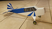 Name: 20200405_004259.jpg Views: 46 Size: 395.9 KB Description: Once the baby was on his feets, i added some vector board triangles that also increase the landing gear strenght