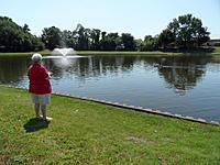 Name: Spring Lake - 2011 035.jpg Views: 129 Size: 303.4 KB Description: Mrs. Tinknocker at the throttles on the 63'