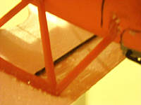 """Name: DSCN4617.jpg Views: 296 Size: 84.7 KB Description: Wing was glued together and a .040"""" carbon rod is epoxied to the wing between the cabane struts."""