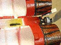 Name: DSCN0216.jpg Views: 84 Size: 135.1 KB Description: Tube drilled into aft fuselage, held in place with 5 min Epoxy