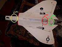 Name: Skyray_ESC.jpg Views: 37 Size: 92.5 KB Description: F4-D Skyray - relative distance of LiPo, ESC, motor