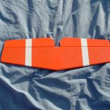 The white stripes on the top of the horizontal stabilizer were factory applied.