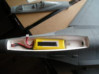 Name: P1010577.jpg Views: 223 Size: 61.9 KB Description: Battery tray is huge. Thats a 2350 4S. Room for plenty more.