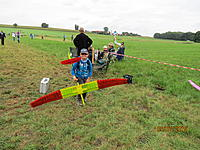 Name: IMG_3602.JPG Views: 81 Size: 3.83 MB Description: This kid is not schlepping his dad's airplane.  That is the airplane he competed with! He also ran hi start lines and punched a stop watch.  He did not finish last, either.