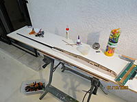 Name: IMG_3770.JPG Views: 70 Size: 2.42 MB Description: This morning I removed all the clamps.  Excellent results!  Excellent bonding between sides and formers.  Better than usual bonding between the sides and longerons.  There is only a short gap aft of former F3.  The best YJ fuse I've built so far.