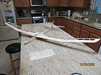 Name: IMG_4591.JPG Views: 34 Size: 2.77 MB Description: This is the unshaped fuselage, with wings and tail attached.